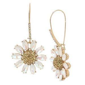 Betsey Johnson Daisy Drop Earrings